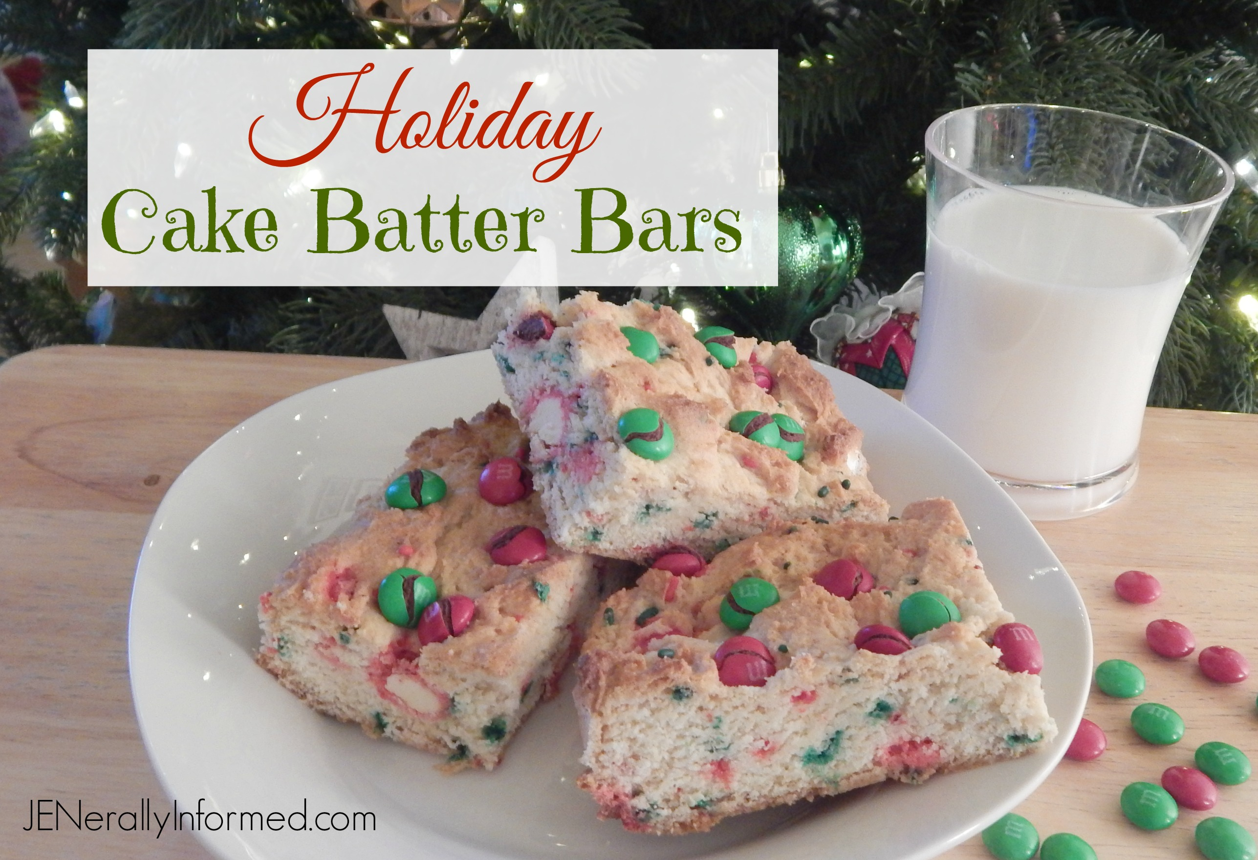 Holiday Cake Batter Bars