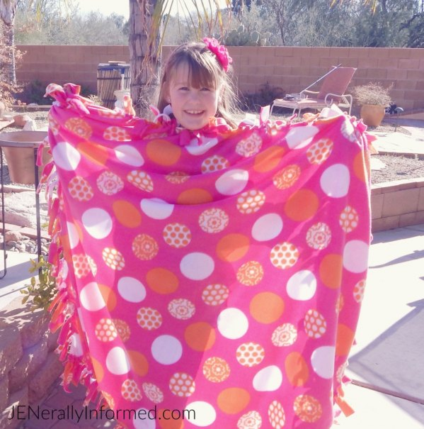 How to make a flannel tie blanket. Super easy and cute!