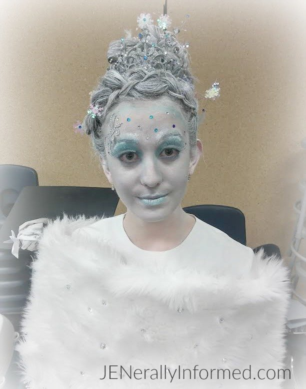 Amazing Snow Queen Hair And Make-up!