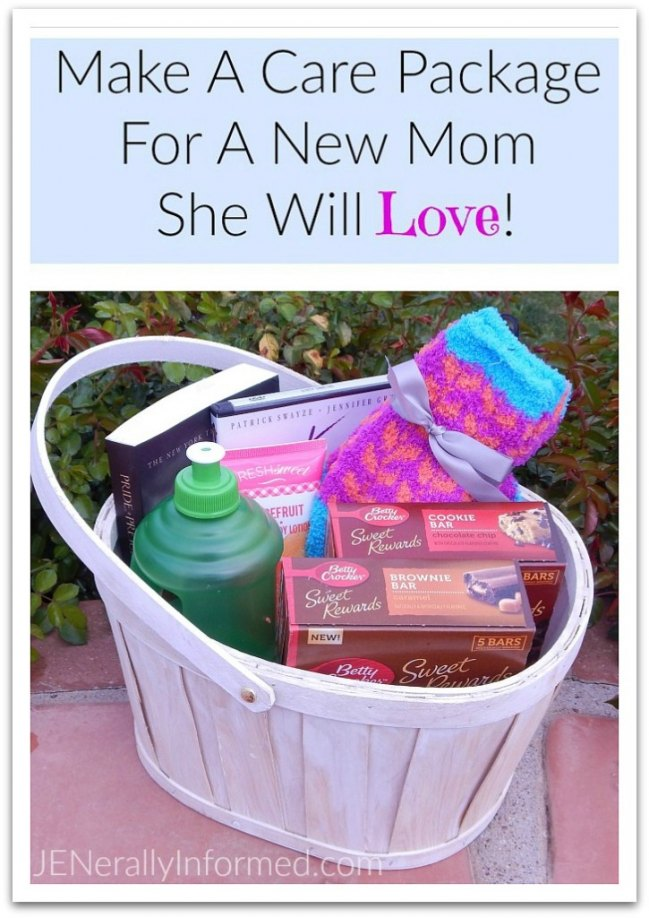How to make a #BlissfulMoments care package for a new mom that she will love!