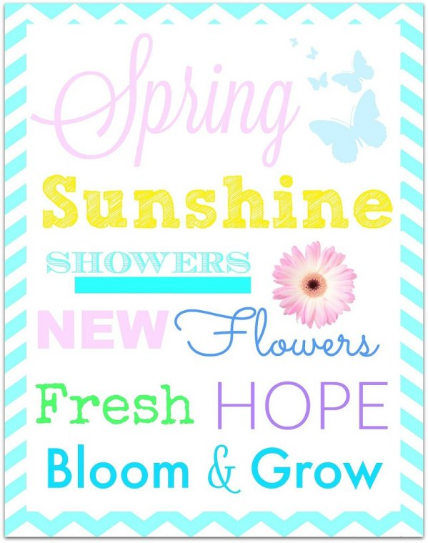 Spring decorating made eaay with this adorable and free printable! Come on over and grab yours today!