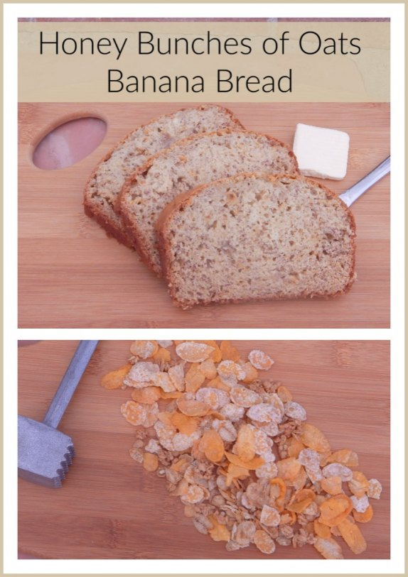 A Delicious Recipe for Honey Bunches of Oats Banana Bread! #CerealAnytime