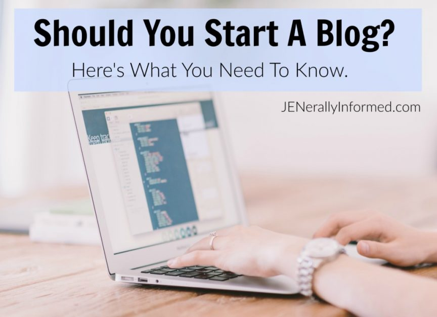 If you are thinking about starting a blog, here are some things you really need to know.