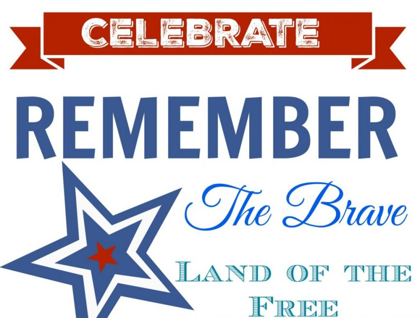 Memorial Day and 4th of July Printable!