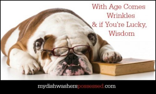 With Age Comes Wrinkles & if You're Lucky, Wisdom from My Dishwasher's Possessed.