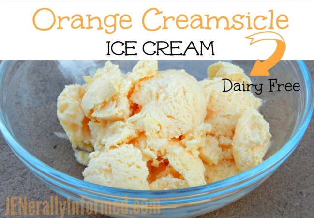 Try this delicious recipe for dairy free orange creamsicle ice cream!