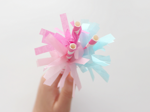 Tissue Paper Party Straws from Whitehouse Crafts.