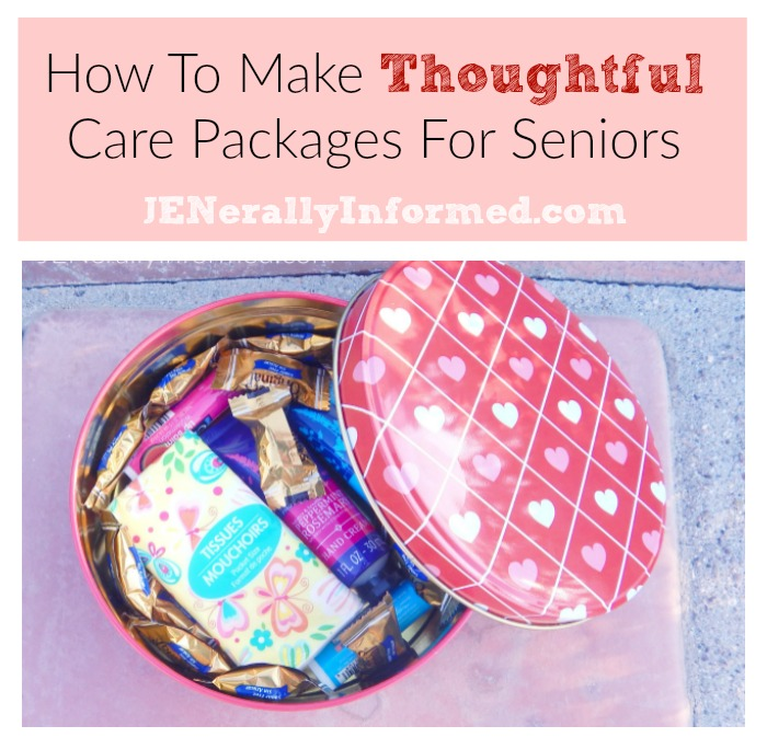 How to make thoughtful care packages for seniors.