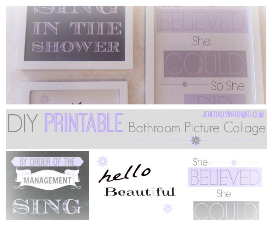 Check out this adorable #DIY #printable bathroom wall art collage