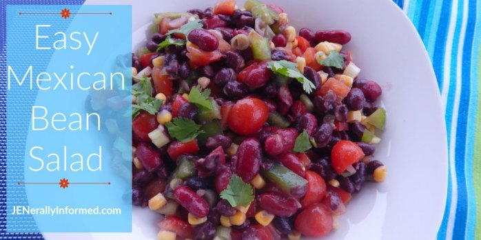 Check out this recipe for a delicious and easy Mexican bean salad!