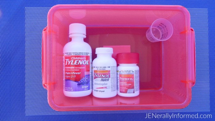 Be #PositivelyPrepared for #BacktoSchool with this cute medicine caddy #ad