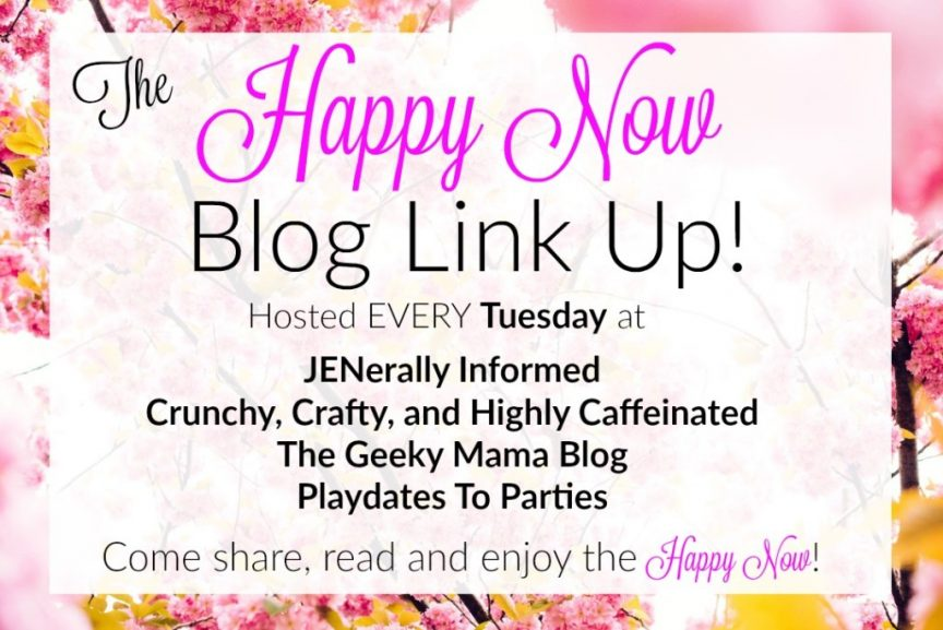 Get those posts seen and make others happy at the Happy Now Link Up EVERY Tuesday!