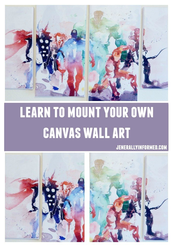 Step by step guide for mounting your own beautiful canvas wall art.