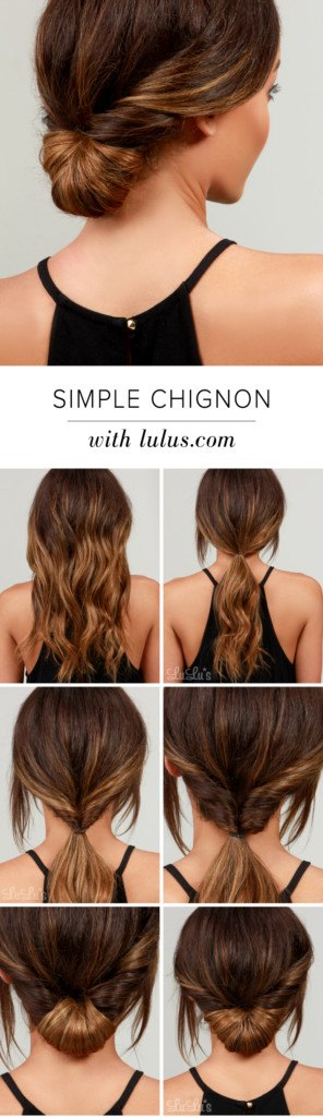 Try a classic chignon, the perfect updo for a seamless and easy pulled together look!