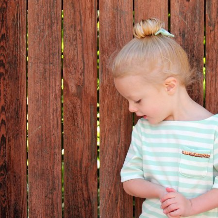 The toddler top knot- nothing is cuter!