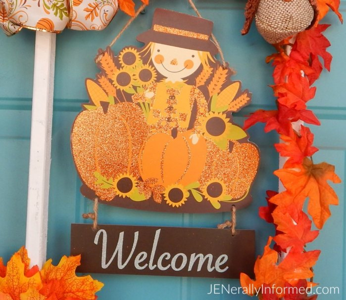 Make your own Fall wreath with a square frame!