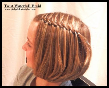 The waterfall twist braid is easier to do than you think.