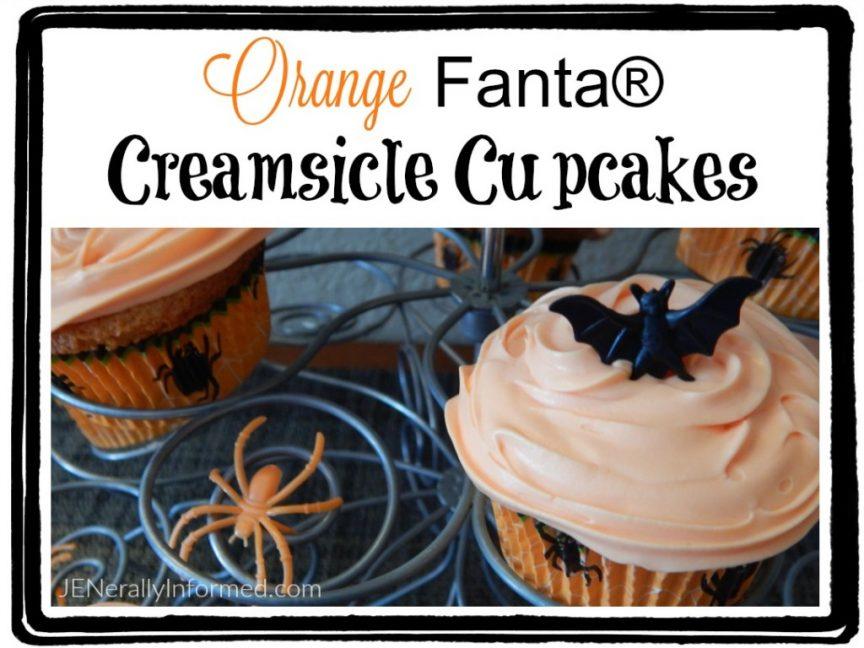 Unleash wickedly good fun with these orange creamsicle #cupcakes #WickedFantaFun #ad #halloween