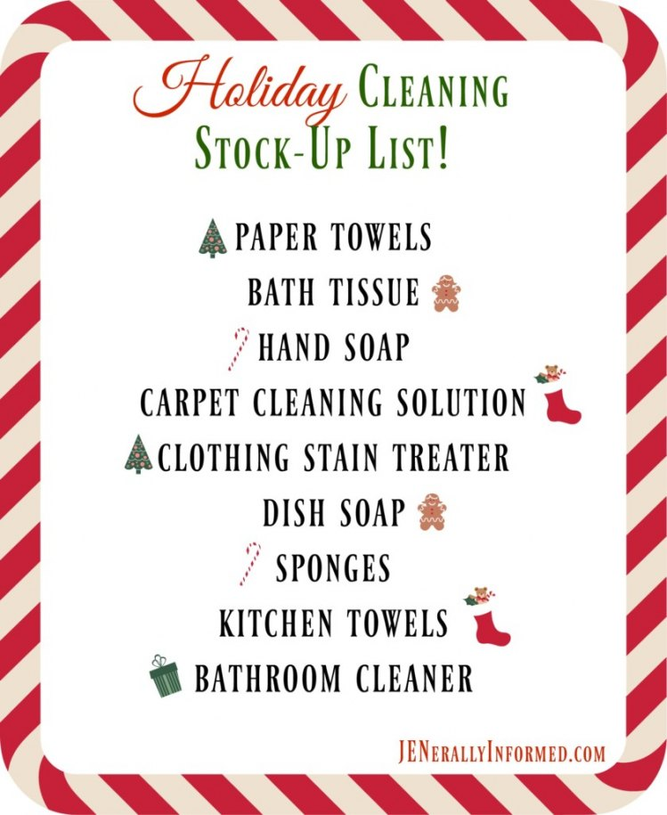 Don't forget something important, grab this Holiday cleaning stock up printable now!