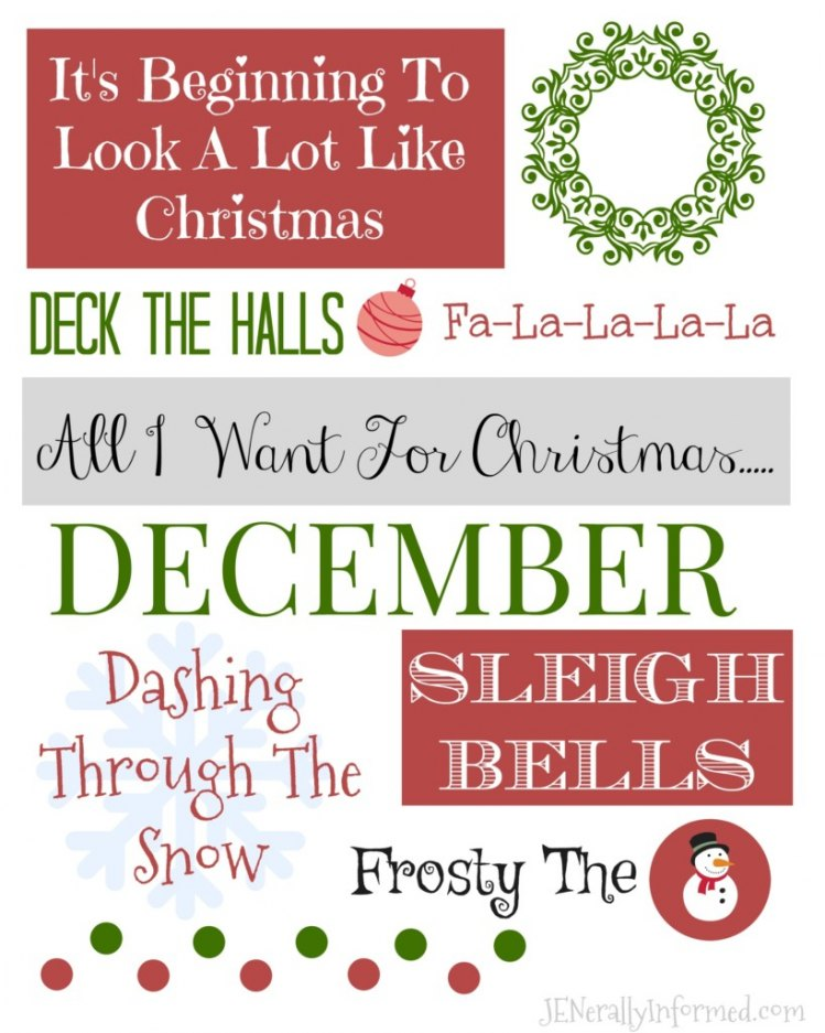 It's beginning to look a lot like Chrsitmas printable! Grab it now!