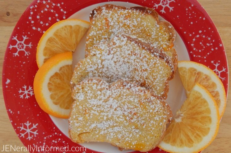 Simplify your next Holiday Brunch with this delicious recipe for baked orange french toast!