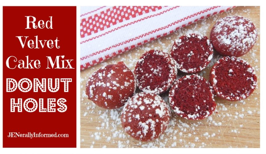 Wow your special someone with these easy to make red velvet cake mix donut holes!