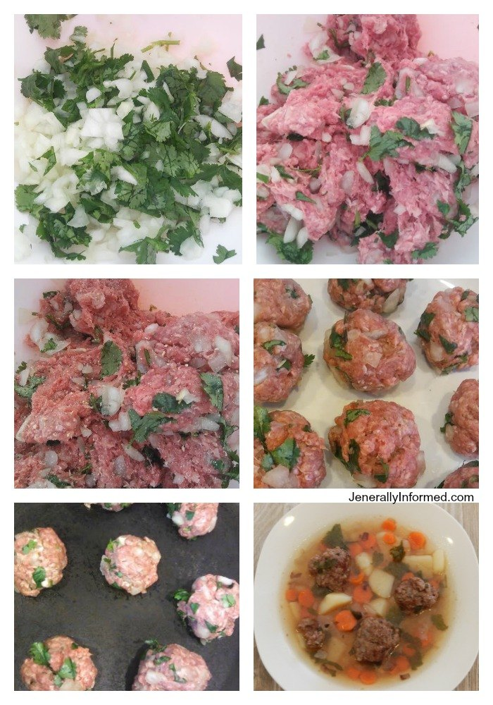 A step by step guide to making homemade Albondigas soup!
