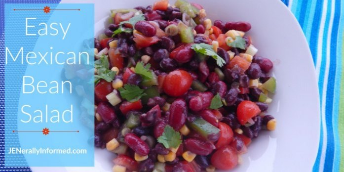 Learn how to make this easy Mexican Bean Salad!