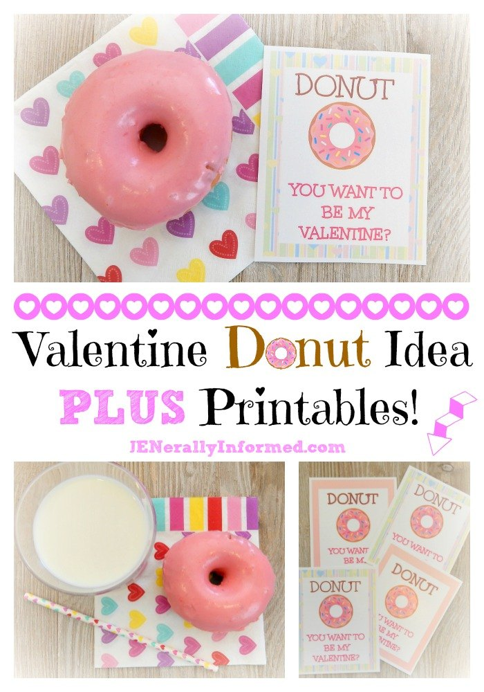Try this fun and easy Valentine idea for the donut lover in your life!