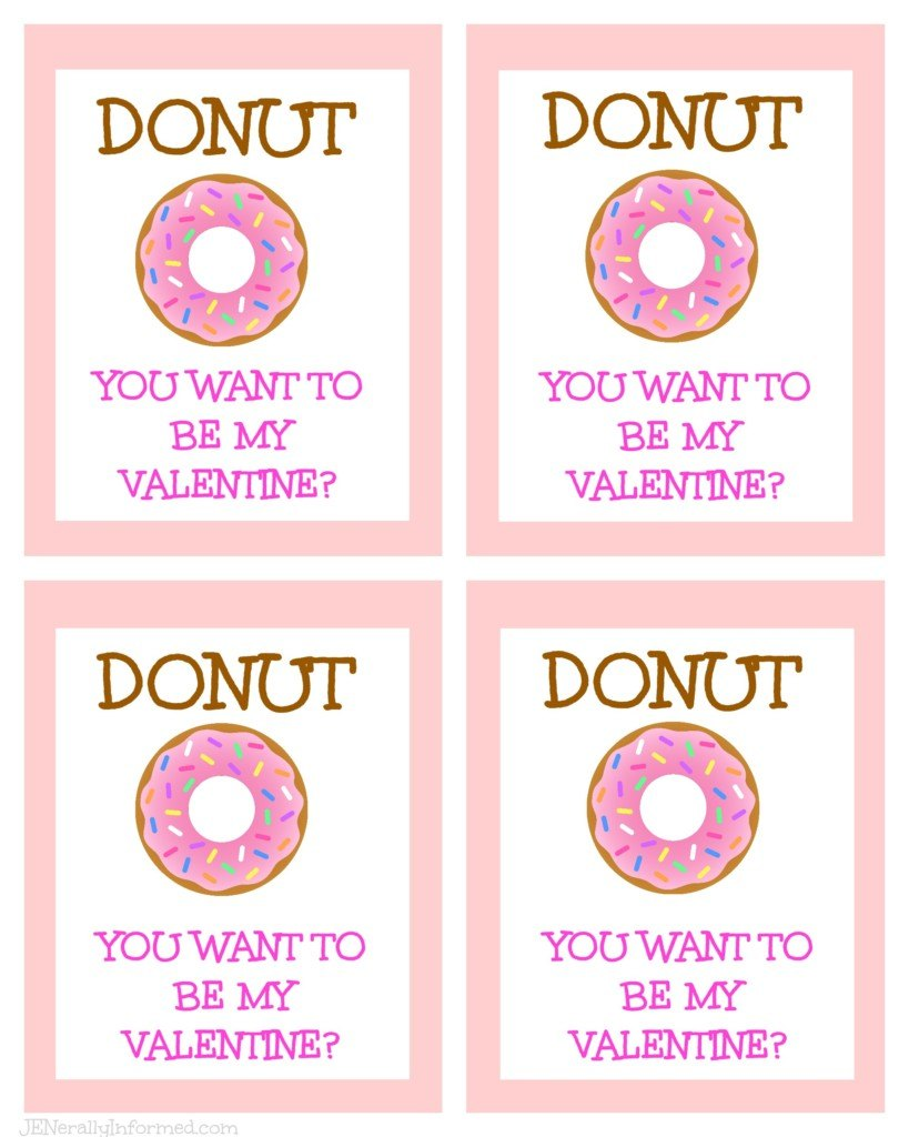 DONUT you want to be my Valentine prinatable!