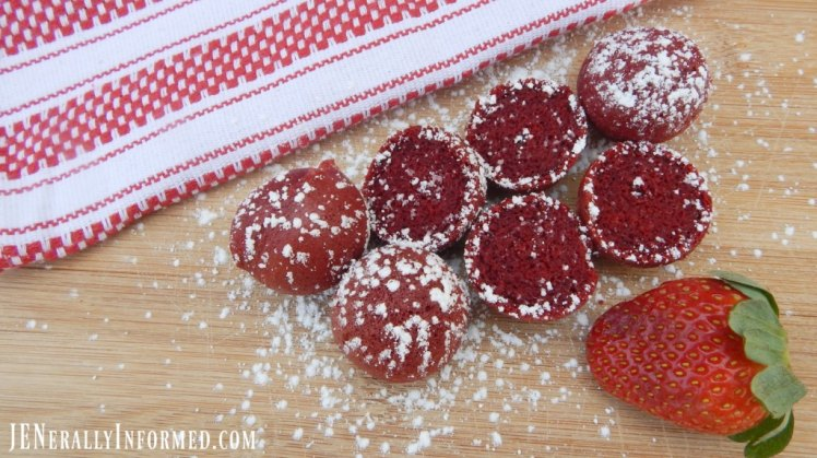 Learn how to make these delicious red velvet cake mix donut holes!