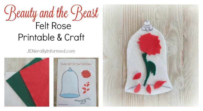 Calling all Princesses! Grab this printable and learn how to make this easy felt rose craft!