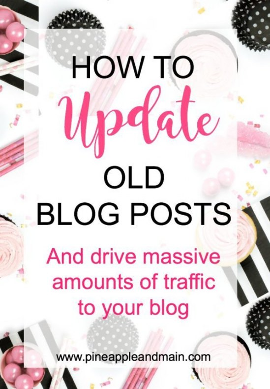 UPDATE OLD BLOG POSTS TO DRIVE TRAFFIC TO YOUR BLOG From Pineapple and Main.