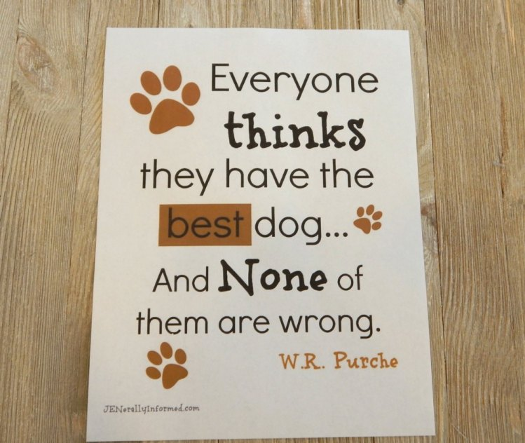 A perfect printable for the dog lover in your life!