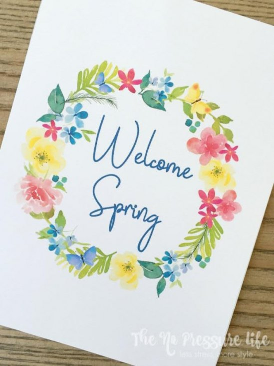 Spring Printable Art: Two Free Watercolor Prints to Decorate Your Walls from The No Pressure Life.