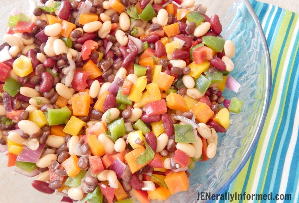Rainbow Bean Salad