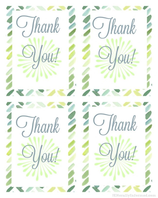 Free Thank You Printable Cards!