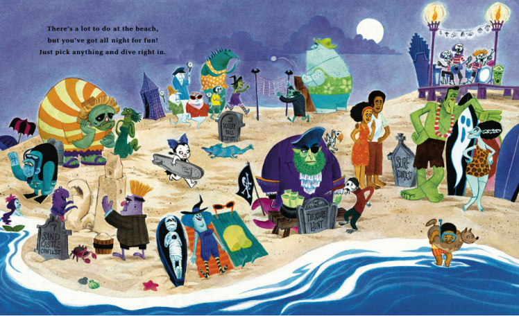 When the summer moon is full, a beach trip is an epic way to spend the night! The newest book in the Vampirina Ballerina series.