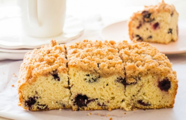 Blueberry Buckle Crumble Cake from Brooklyn Farm Girl.