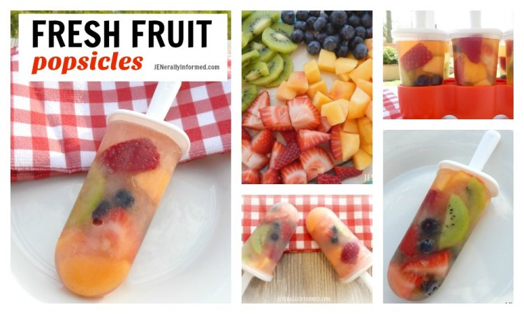 Cool down with these fresh fruit popsicles!