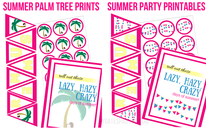 Free Party Printables For The BEST Summer Ever from Play Dates To Parties!