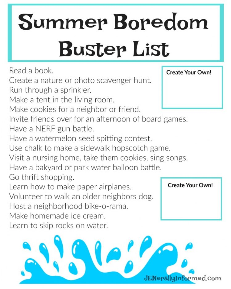 The ULTIMATE Summer Boredom Busting #Printable!