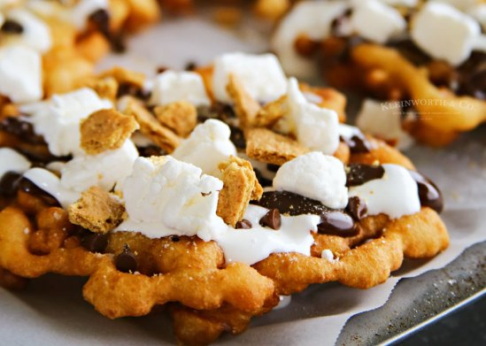 Easy Smores Funnel Cake from Kleinworth & Co.