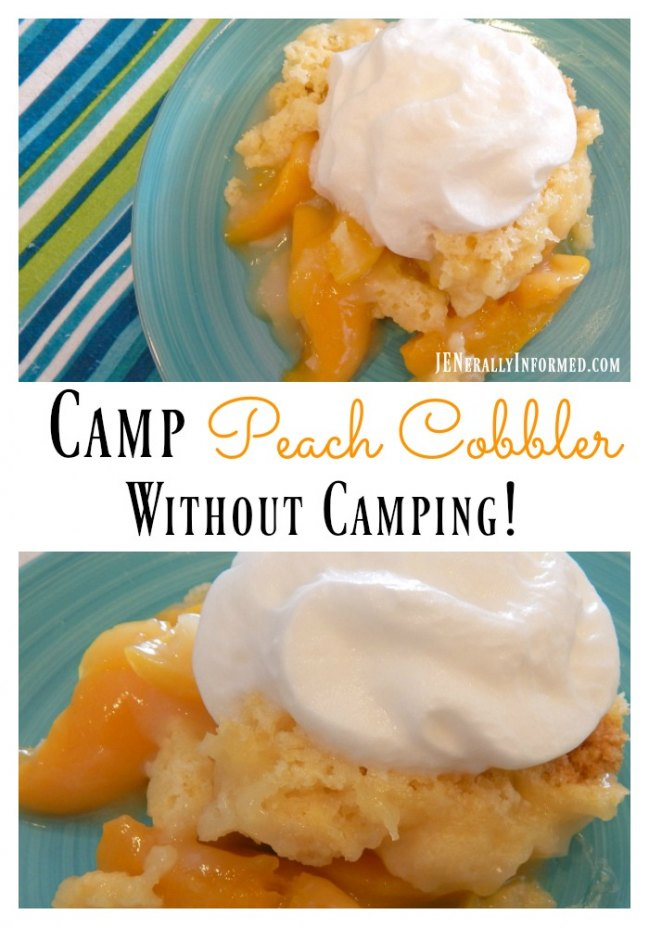 This cobbler uses only 3 ingredients and is perfect for your next camping or at home campng adventure!