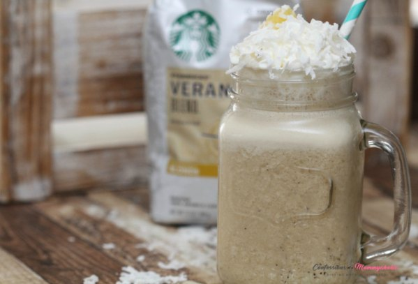 Starbucks® Pina Colada Iced Coffee Recipe From Confessions of a Mommyaholic.