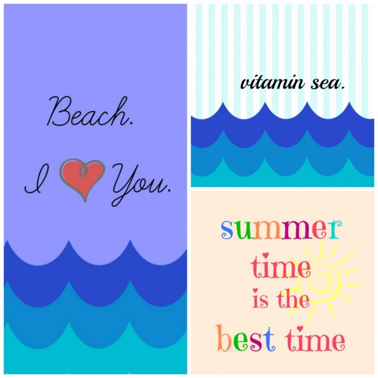 Grab these free beach wall art printables for summer decorating!