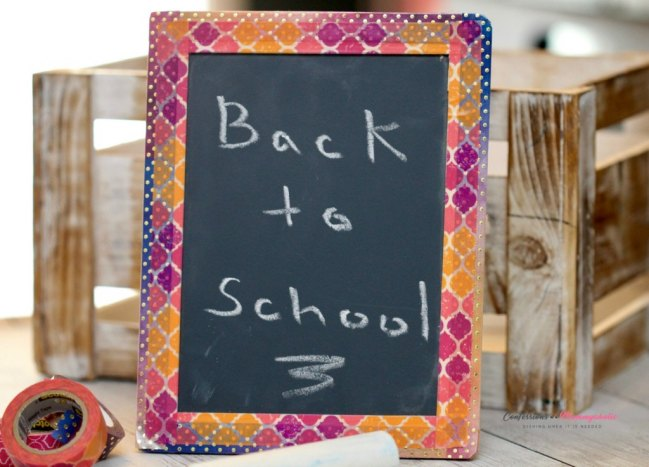 Get back to school ready with an adorable DIY washi chalkboard!