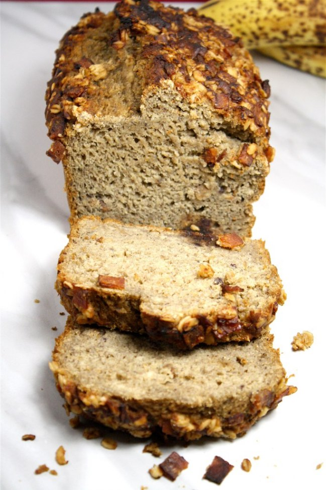 Date Sweetened Banana Bread from Looney for Food.