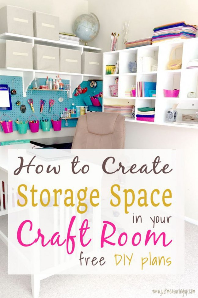 How to create craft room storage that holds everything PLUS free downladable plans!