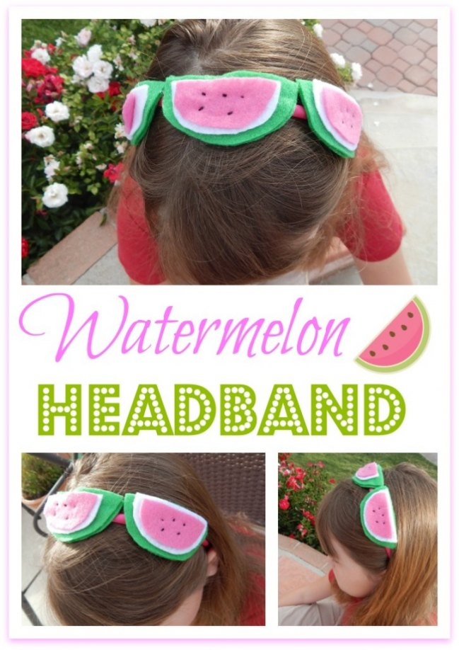 Make your summer accesorizing fabulous with an adorable watermelon headband!